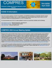 COMPRES April 2020 Newsletter front page
