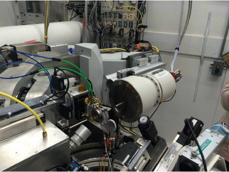 High P-T single crystal diffraction setup