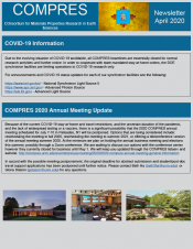 COMPRES April 2020 Newsletter front page
